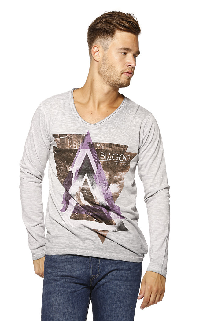 T-shirt Biaggio T-shirt manches longues pour homme