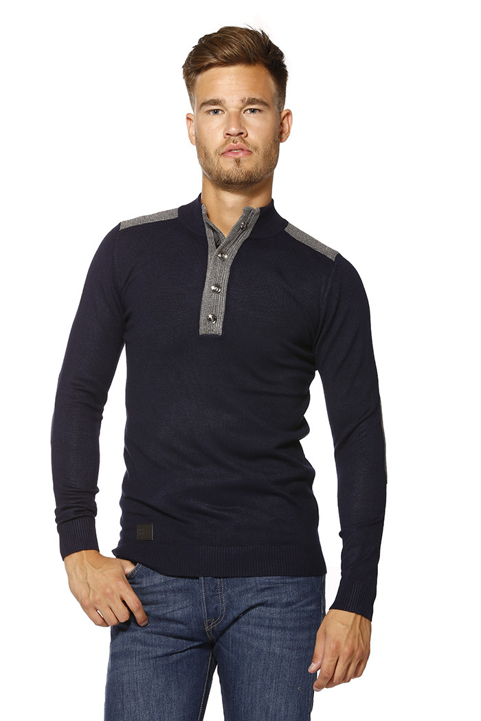 Pull, Gilet Biaggio Pull col montant pour homme