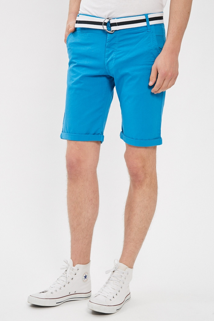 Short, Bermuda Paname Brothers Short turquoise pour homme