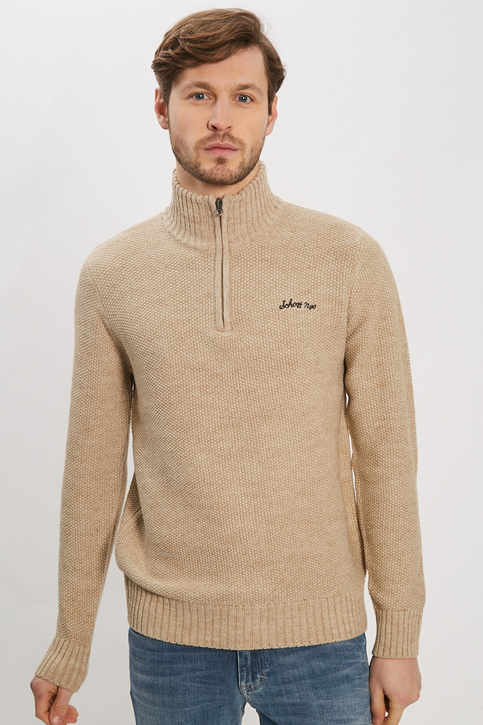 Pull, Gilet Schott Pull beige pour homme
