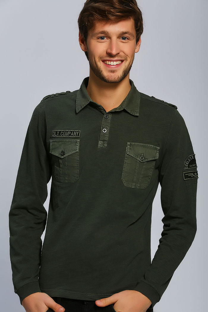 Polo Deeluxe Polo manches longues pour homme