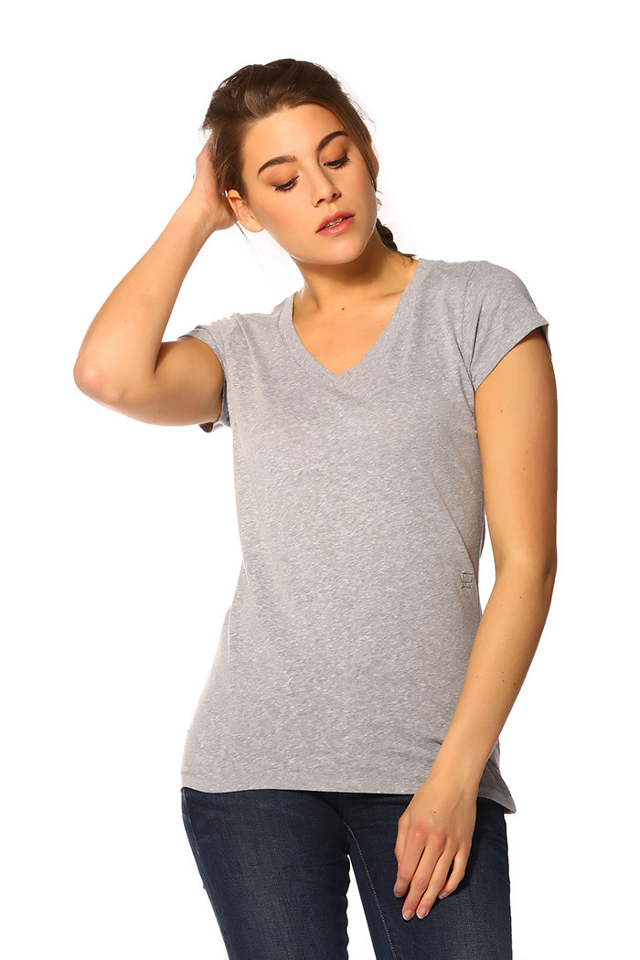 T-shirt G-Star Raw T-shirt gris chiné pour femme