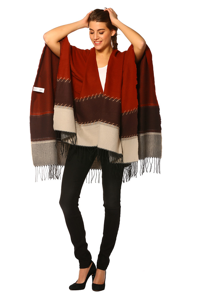 Pull, Gilet Only Poncho Arabian Spice pour femme