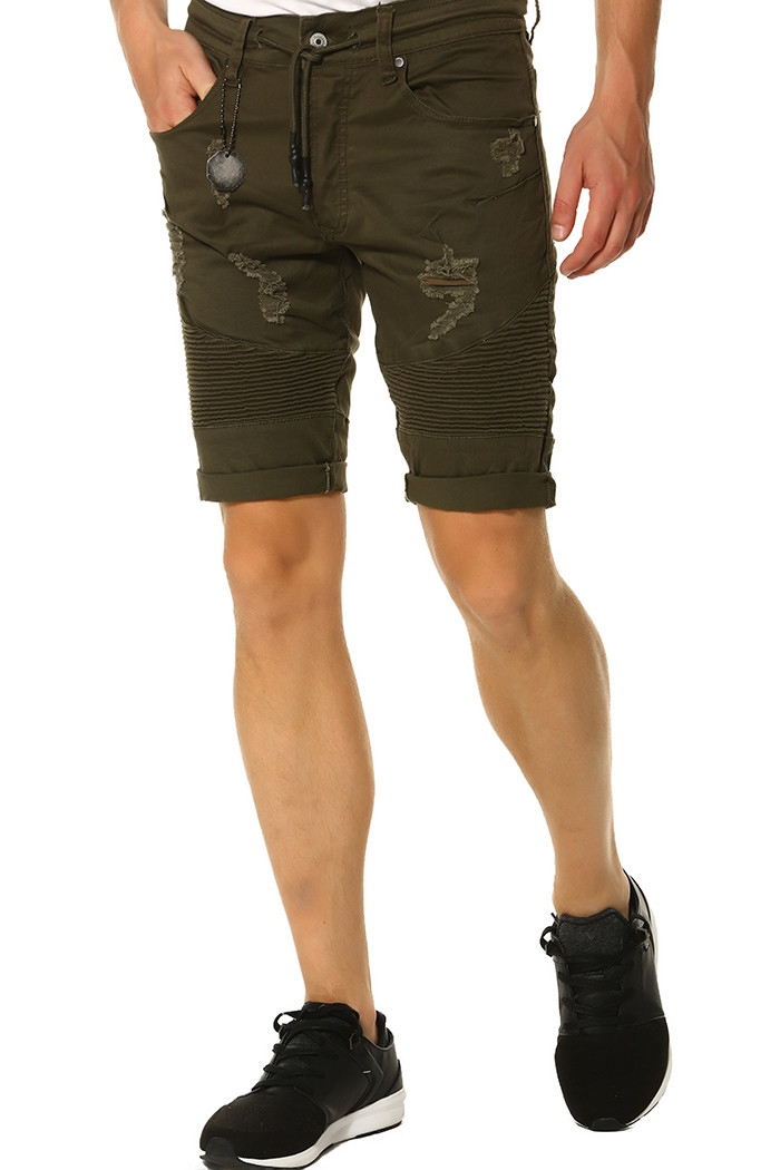 Short, Bermuda Project X Short Project X kaki pour homme