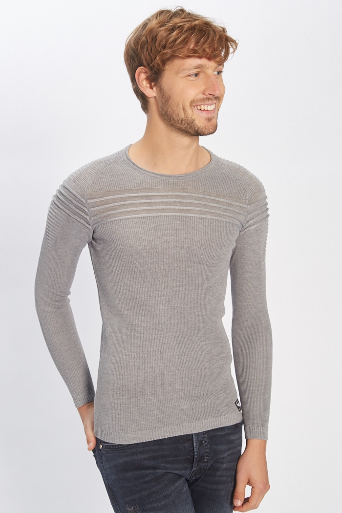 Pull, Gilet Paname Brothers Pull gris pour homme