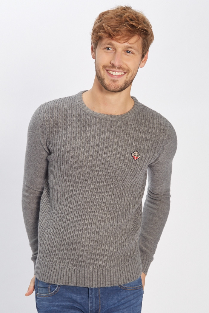 Pull, Gilet Schott Pull gris pour homme