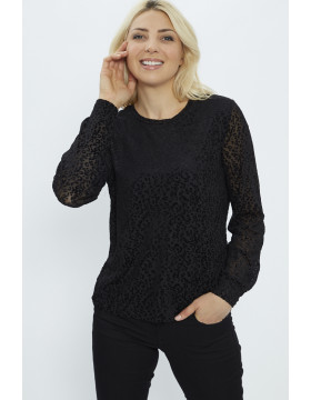 LUNA NEW MESH LOOSE_BLACK/FABRIC LIK