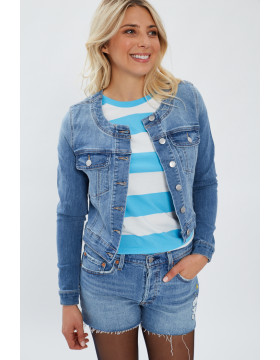 SALLY LS DENIM JKT _MEDIUM BLUE DENIM