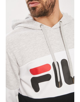 Sweat Homme Fila HECTOR CREW SWEAT_BLACK à 40% Destock Jeans
