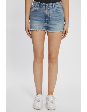 PIRLO LIFE RAW EDGE SHORTS_MEDIUM BLEU DENIM