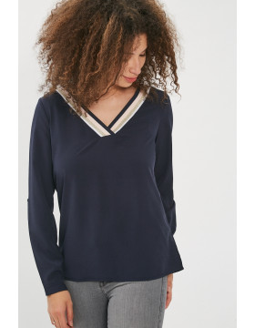 ISABELLA L/S FOLD UO TOP_NIGHT SKY