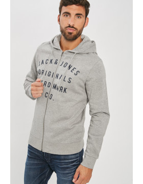 RONES SWEAT ZIP_LIGHT GREY