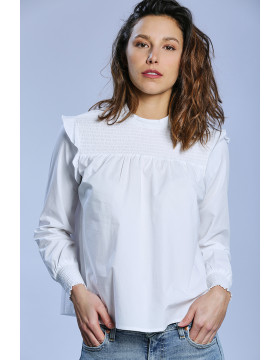HELEN SMOCK SHIRT_BRIGHT WHITE