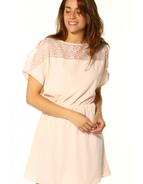 MOLLY S/S DRESS _PEACH WHIP
