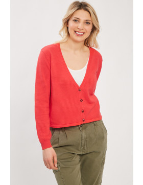 Pulls, Gilets Only Cardigan rouge/orange  pour femme