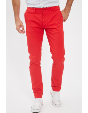 Pantalons Paname Brothers Pantalon chino rouge pour homme