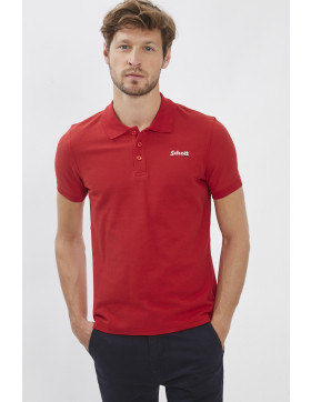 Polos Schott Polo rouge pour homme