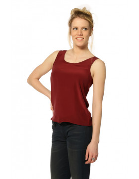 SILK TANK R-NECK TOP FF_ZINFANDEL