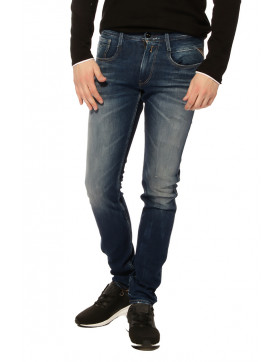 ANBASS M914.000.59A.650.009_10 OZ DEEP BLUE DUAL FIX STRETCH DENIM