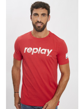 T-shirts Replay T-shirt rouge pour homme