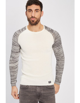 Pulls, Gilets Paname Brothers Pull ecru/gris pour homme
