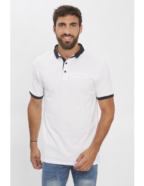Polos Paname Brothers Polo blanc  pour homme