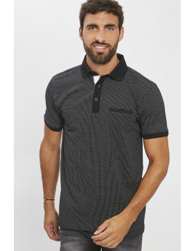 Polos Paname Brothers Polo noir pour homme