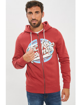 Sweats Jack & Jones Sweat à capuche rouge pour homme
