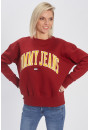 Sweat Tommy Hilfiger Sweat over size rouge  pour femme