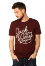 T-shirt Jack & Jones T-shirt grindle rouge  pour homme