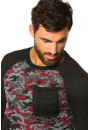Pull, Gilet Hite Couture  Pull camouflage rouge pour homme