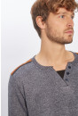 Pull, Gilet Paname Brothers Pull chiné gris pour homme